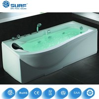 Top quality 2016 new design 1 person acrylic whirlpool corner portable bathtub