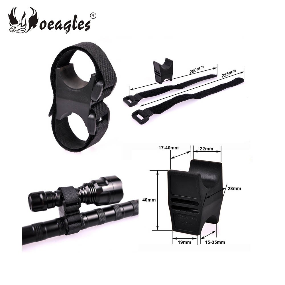 Universal Plastic Hunting Accessories Adjustable Bicycle Flashlight Laser Scope Mount