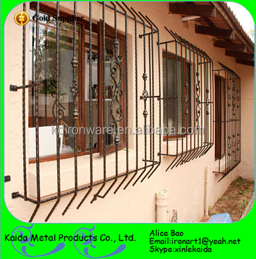 Modern French Sliding Window Steel Window Grill Design