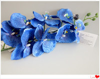blue orchid plastic flower artificial flower