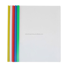 Wholesale custom office presentation document PP PVC stationery A4 plastic sliding Q bar clear report file cover