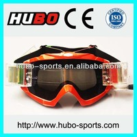 CE standard best cheap motocross racing goggles with roll off system