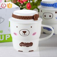 Factory price Hot sale Cover with tea cup porcelain tea cup mug