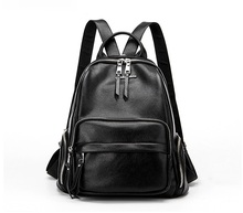 New Design Casual Genuine Natural Women Leather Backpack