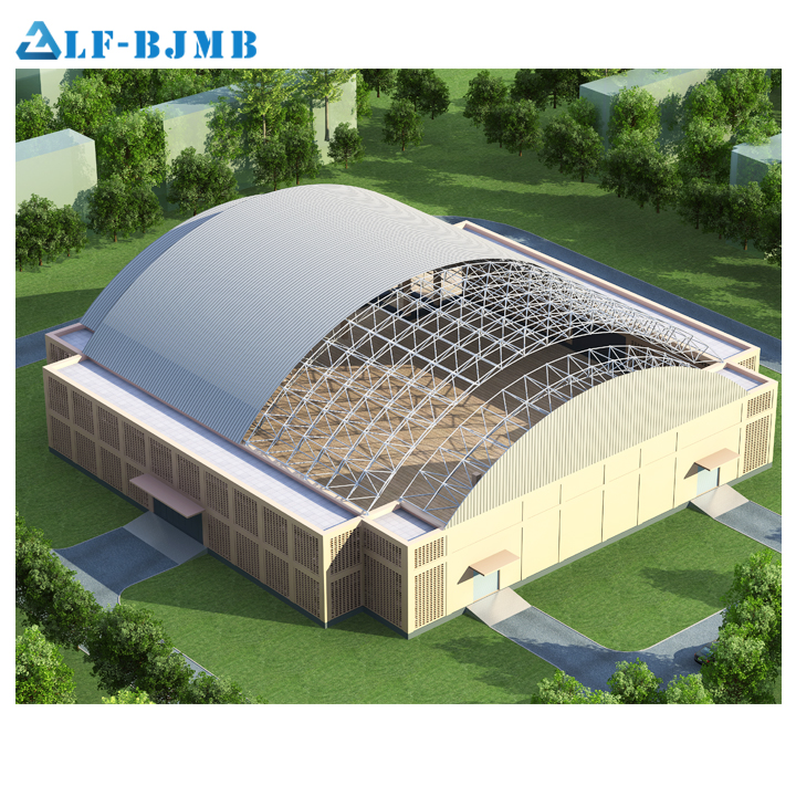 Spacial frame light steel structure roof designs for Stadium