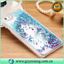 High quality shining stars quicksand pc case for Samsung galaxy s4 back cover case