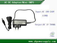 Wall Mount plug in night light 1V 700ma ac dc adapter
