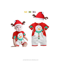 Christmas gift 2015 hot baby rompers Santa Claus clothes children romper newborn rompers for kids cloth+hat