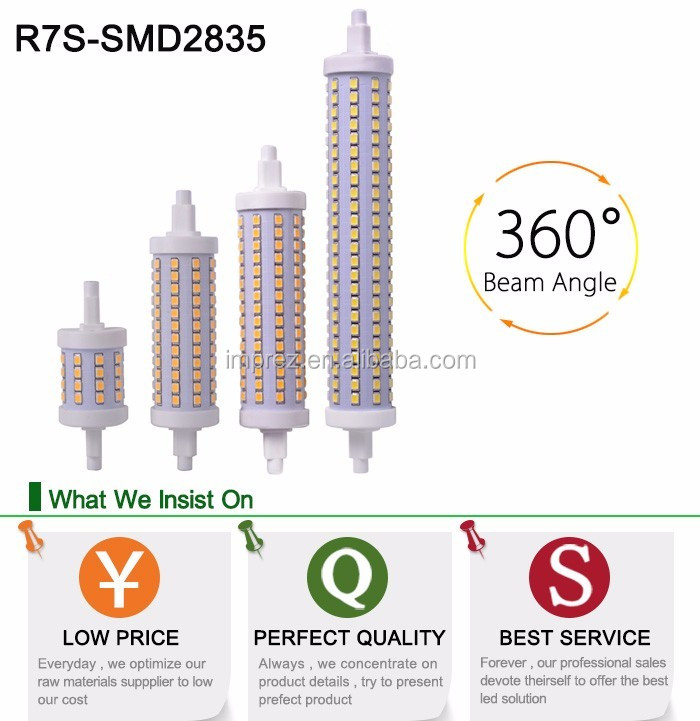 28*189mm 20W led r7s replacing linear tungsten halogen lamp