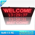 high resolution semi outdoor p-10 led message display