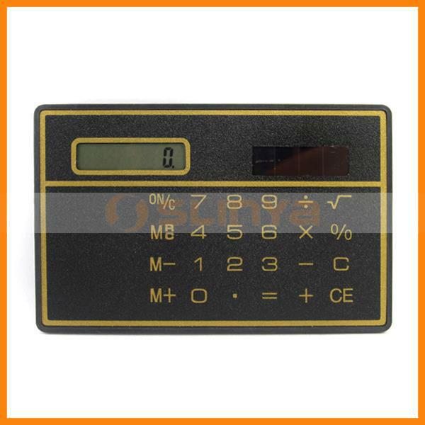 Small Size Solar Power Emergency Slim Pouch Bag Calculator