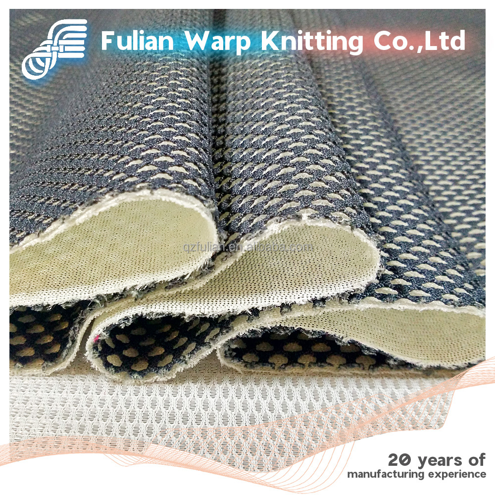 100% Polyester two-tone sandwich mesh fabric,special sandwich mesh,3D spacer mesh fabric