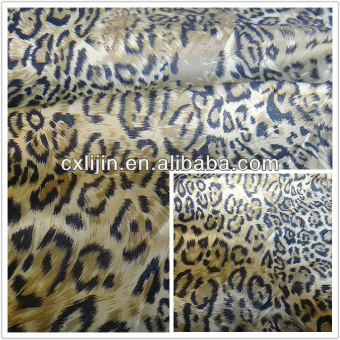 Mircrofiber 100% polyester leopard printed brushed fabric with leopard printing with best price&high quality