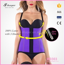 S-SHAPER Waist Vest Corset,Purple Colour Sport Latex Semi Vest