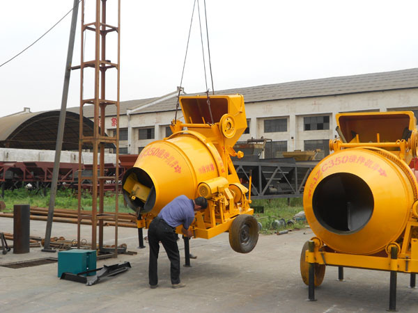 Low price jzc350 industrial cement mixer with electric for Cement mixer motor for sale
