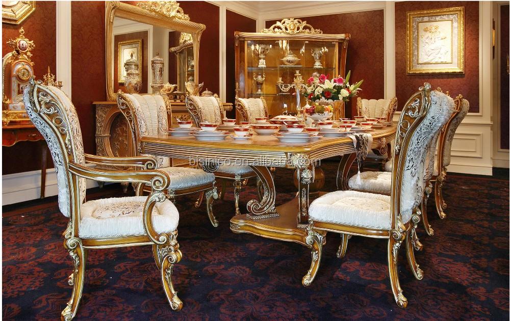 Bisini italian style elegant baroque marquetry dining room for Sofas clasicos elegantes