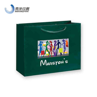 High Quality Green Gift Paper Tote Bags For Shopping