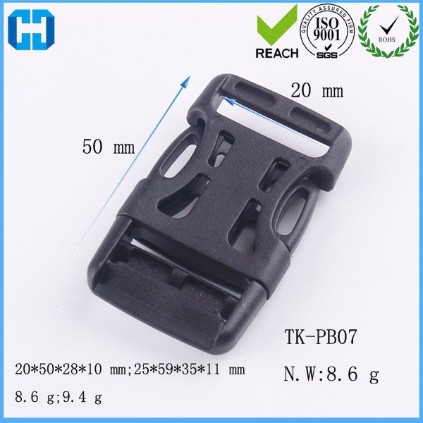 20mm Luggage Strap Spare Parts Plastic Side Quick Release Buckle