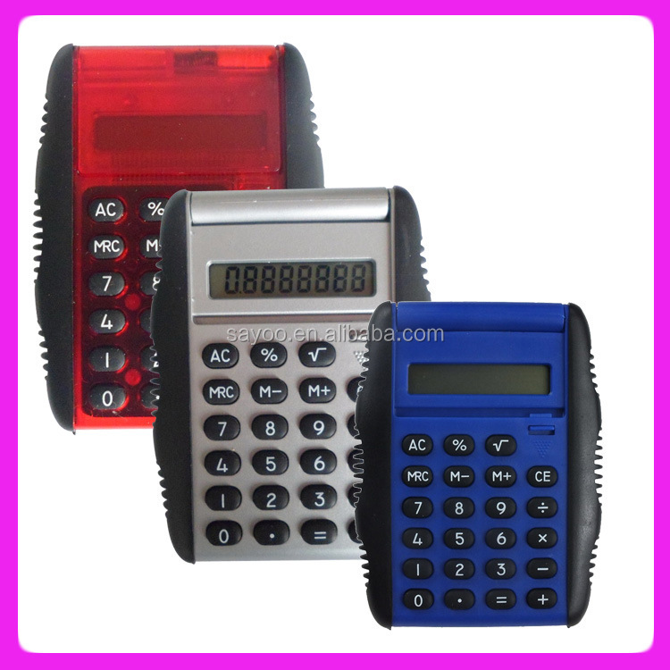 Promotional mini plastic 8 digits calculator scientific calculator