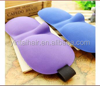 New style 3D comfortable sleeping eye mask,funky travel cotton good sleep customize eye mask