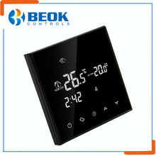 China supplier real time running status information saved smart thermoregulator hotel system digital temperature thermostat