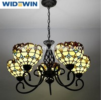 Vintage Tiffany chandeliers sitting room lighting lamps and lanterns, wrought iron the Mediterranean WW-YLM030