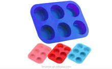 red cupcake secret silicone muffin non stick baking pan 6 mould JAM insert bakeware