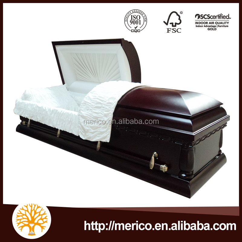 HC4 hand carved wooden funeral casket cheap wood coffin