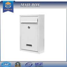 YooBox Supply Powder Coating White Lockable Mailbox Household Item Postboxes