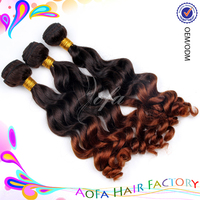 Wholesale price high quality two tone 100% human ombre x-pression braid hair