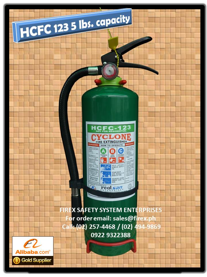 HCFC 123 portable 5 lbs Fire Extinguisher