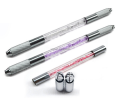 Two heads Newest Manual Tattoo Pen and microblading pen for Permanent Eyebrow Makeup with microblading needles