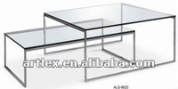 modern tempered glass dining table ALG-9023