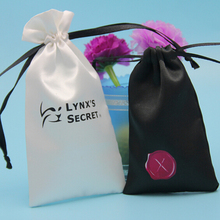 customization drawstring satin cell phone gift bags