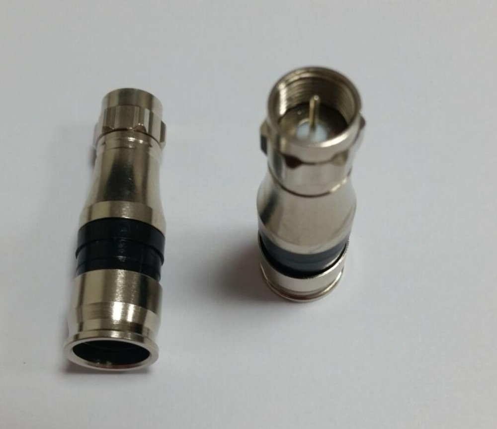 Waterproof Connector EX Series Male F RG11 Compression Connector