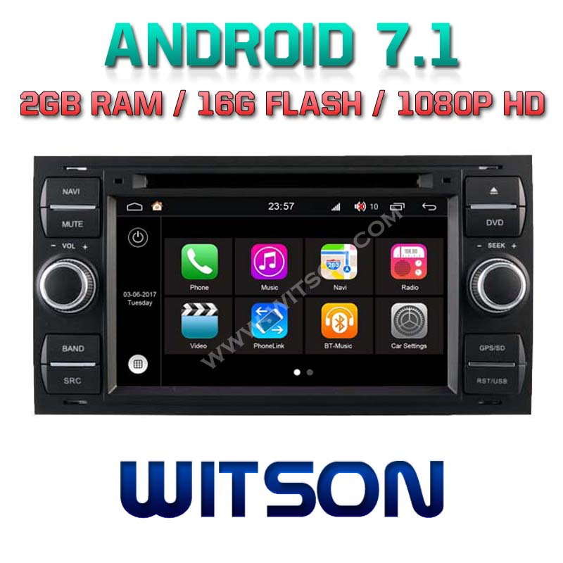 WITSON S190 ANDROID 7.1 CAR DVD GPS NAVIGATION FOR FORD FOCUS <strong>C</strong> MAX 2G DDR3 <strong>1080P</strong> HD EXTERNAL BLUETOOTH MICROPHONE