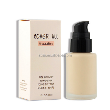 Very hot sale products customize makeup liquid foundation for dark skin with low moq private label