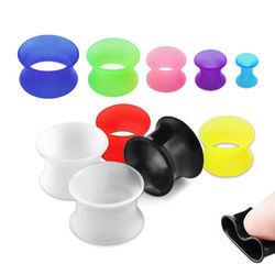 Double Flared Silicone Flesh Tunnel Piercing