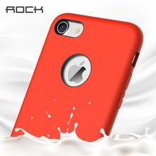 For iPhone 7 Silicone Case,ROCK Touch Series Liquid Silicone Magnetic Back Case For Iphone 7/7 Plus HD-824