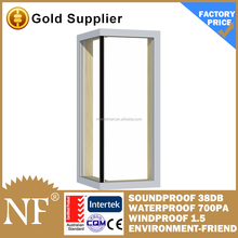 aluminium fixed glass corner windows