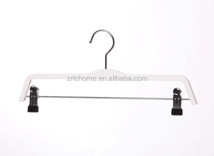 factory make wood Economical wooden clothes hangers with clip