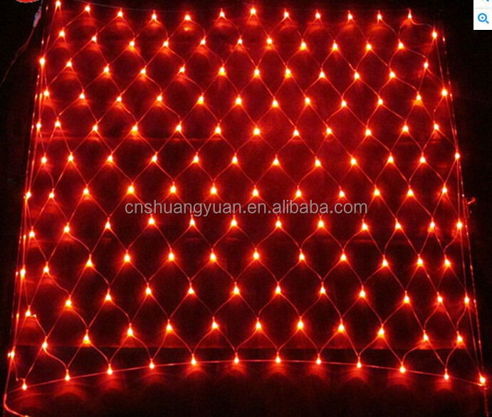 Red LED color home decoration Christmas net lights