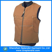 Custom mens fashion leather vest for motorcycle club