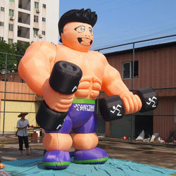 Attractive giant inflatable large muscle man