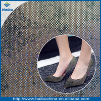 pu upper artificial material for making high heel shoes
