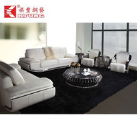 coffee table best seller design pu high gloss stainless steel coffee table for living room