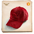 Wholesale good quality blank red corduroy unstructured baseball cap without logo