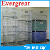 steel welded folding metal cage storage container gitterbox