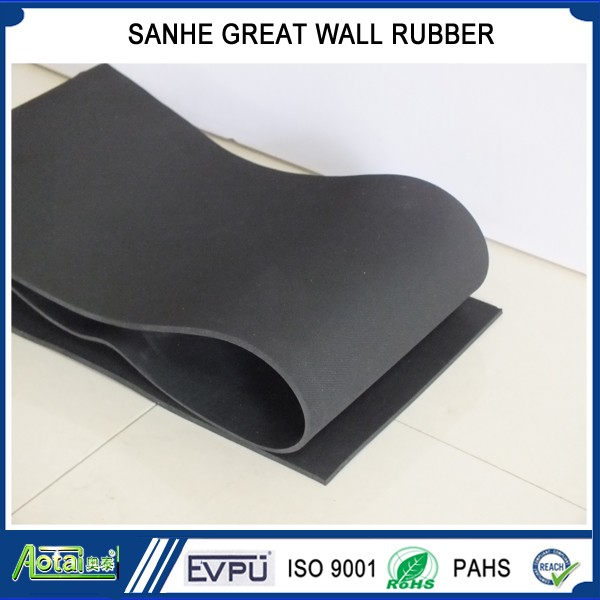 one/both sides smooth or Fabric impression rough surface rubber sheet roll
