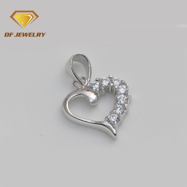 Cheap price clear white heart shape 7 stones silver pendants
